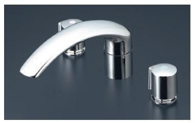 【最安値挑戦中!最大25倍】バス水栓(2ハンドル) KVK KM70CU 浴室 2ハンドル混合栓(ナット接続)