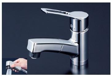 【最安値挑戦中!最大24倍】シングルレバー KVK KM8001ZTF 洗面化粧室 洗面用シングルレバー式シャワー付混合栓寒冷地用