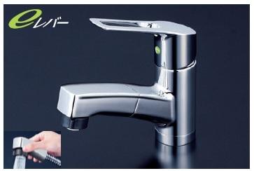【最安値挑戦中!最大25倍】シングルレバー KVK KM8001ZTFEC 洗面化粧室 洗面用シングルレバー式シャワー付混合栓寒冷地用