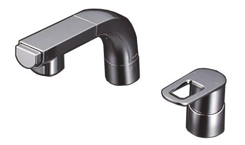 【最安値挑戦中!最大25倍】KVK FSL120DZKCT シングルレバー式洗髪シャワー ハンドル湯側回転角度規制タイプ 寒冷地用