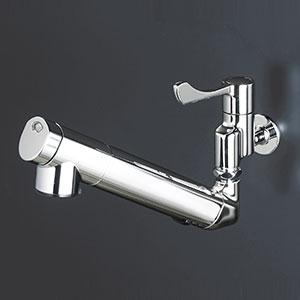 【最安値挑戦中!最大25倍】水栓金具 KVK K1610ZN 壁付浄水器内蔵自在水栓 寒冷地用