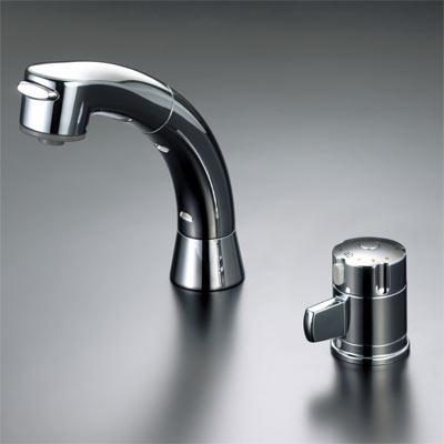 【最安値挑戦中!最大25倍】シングルレバー KVK KF125G2N 洗面化粧室 サーモスタット式洗髪シャワー