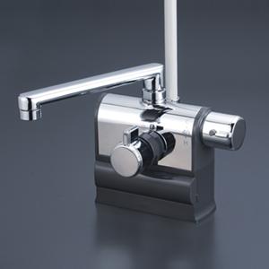 全品対象 最安値挑戦中 最大25倍のチャンス kf3008r 最大25倍 KVK KF3008R 台付 190mmパイプ付 シャワー 賜物 デッキ形サーモスタット式シャワー 混合栓 水栓 おトク 右ハンドル仕様