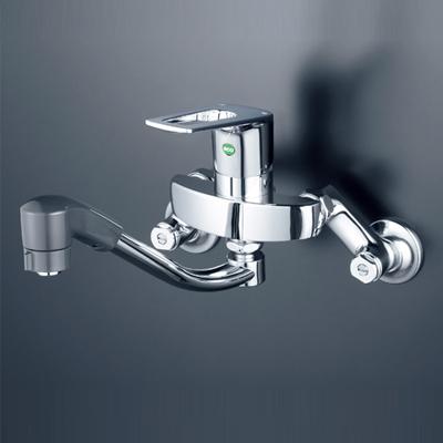 【最安値挑戦中!最大25倍】水栓金具 KVK KM5000TFEC シングルレバー式シャワー付混合栓