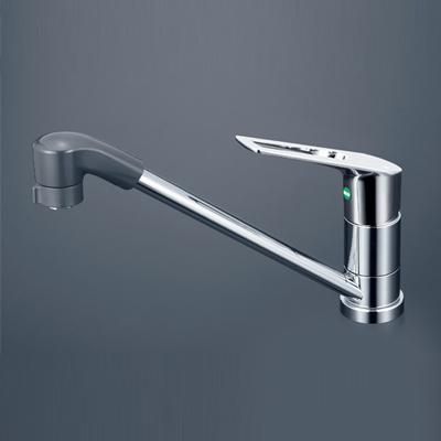 【最安値挑戦中!最大24倍】水栓金具 KVK KM5011TFEC 流し台用シングルレバー式シャワー付混合栓