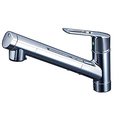 【最安値挑戦中!最大25倍】KVK KM6001JEC 浄水器内蔵シングルレバー式シャワー付混合栓 eレバー