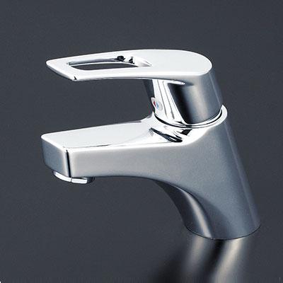 【最安値挑戦中!最大25倍】水栓金具 KVK KM7001TA 洗面用シングルレバー(湯側回転角度規制)