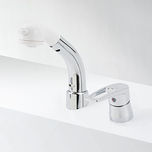 【最安値挑戦中!最大25倍】KVK KM8029TCN シングルレバー式洗髪シャワー/18度傾斜 ヒートン付