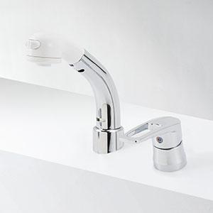 【最安値挑戦中!最大25倍】水栓金具 KVK KM8029ZT シングルレバー式洗髪シャワー 傾斜タイプ 寒冷地用