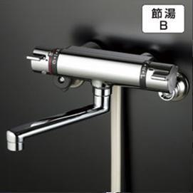 【最安値挑戦中!最大25倍】シャワー水栓 KVK KF800WTR2 サーモスタット式シャワー 寒冷地用 240mmパイプ付