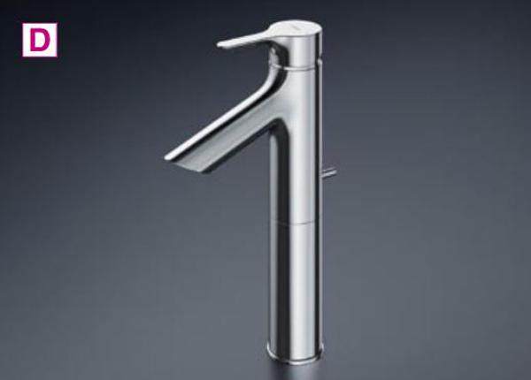 【最安値挑戦中!最大23倍】TOTO 洗面所用水栓 TLS01305J 台付シングル混合水栓 逆止弁 ワンプッシュ式 [■]