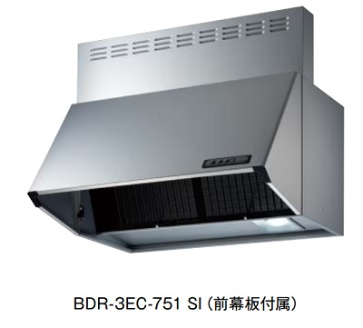 【最安値挑戦中!最大23倍】レンジフード 富士工業 BDR-3EC-601 SI 間口600mm シルバーメタリック (前幕板付属) [♪■§]
