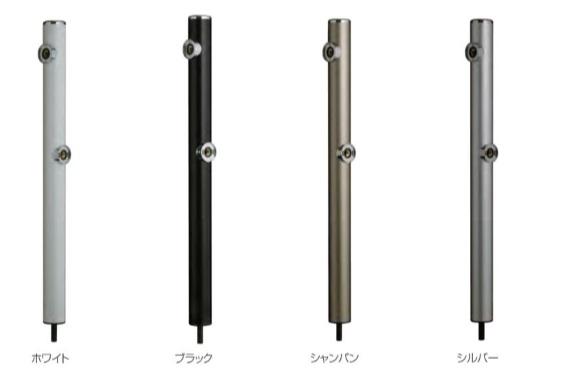 【最安値挑戦中!最大34倍】前澤化成工業 HI-16WR×960 水栓柱 丸形アルミ2口水栓柱