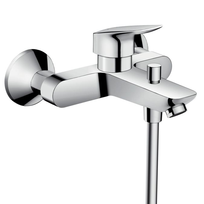【最大44倍スーパーセール】ハンスグローエ 71400000 ロギス 壁付式シングルレバーバス・シャワー混合水栓 [■]