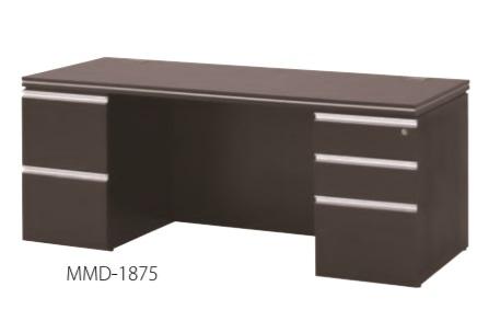井上金庫 マネージメントデスク MMD-1875 両袖デスク W1800 × D750 × H716 [【店販】♪▲]