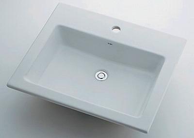 【最安値挑戦中!最大24倍】カクダイ 【493-008】 JEWEL BOX Luju 角型洗面器 1ホール [♪■]