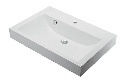 【最安値挑戦中!最大25倍】洗面所 カクダイ 493-070-750 角型洗面器(1ホール) [♪■]