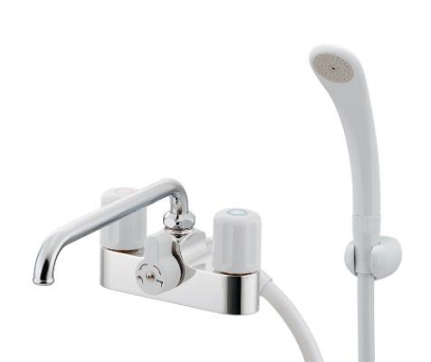 【最安値挑戦中!最大25倍】水栓金具 カクダイ 152-103 2ハンドルシャワー混合栓 [□]