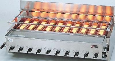 【最安値挑戦中!最大25倍】業務用ガス赤外線グリラー リンナイ RGA-410B 下火式 新荒磯10号 1コック2バーナー 赤外線バーナー(シュバンク) [♪≦【店販】]