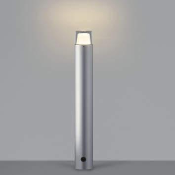 【最大44倍スーパーセール】コイズミ照明 AU42261L(別梱包2ヶ口) ガーデンライト ポール灯 調光タイプ 白熱球60W相当 LED一体型 電球色 シルバー 防雨型