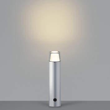 【最安値挑戦中!最大25倍】コイズミ照明 AU42264L ガーデンライト ポール灯 調光タイプ 白熱球60W相当 LED一体型 電球色 シルバー 防雨型
