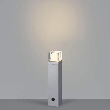 【最安値挑戦中!最大25倍】コイズミ照明 AU42273L(別梱包2ヶ口) ガーデンライト ポール灯 白熱球60W相当 LED一体型 電球色 シルバーメタリック 防雨型