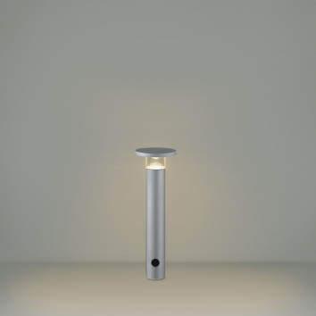 【最安値挑戦中!最大34倍】コイズミ照明 AU49067L LEDガーデンライト ポールライト LED付 電球色 防雨型 表ネジ式 シルバー [(^^)]