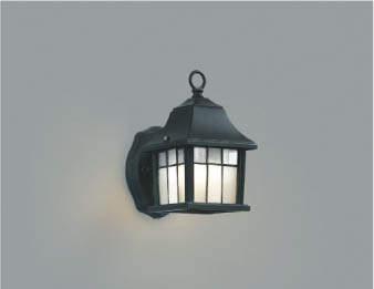 【最大44倍スーパーセール】コイズミ照明 AUE646327 ポーチライト 壁 ブラケットライト 白熱球40W相当 LED付 電球色 防雨型 黒