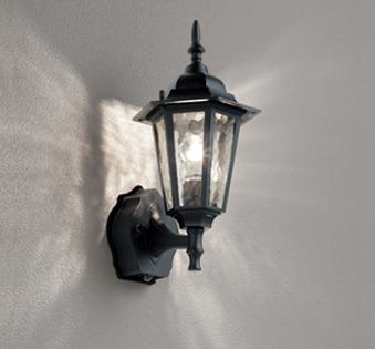 【最大44倍スーパーセール】オーデリック OG254633LC エクステリアポーチライト LED電球クリア一般形 人感センサ 白熱灯40W相当 電球色 黒色