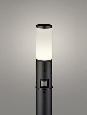 【最大44倍スーパーセール】オーデリック OG254655LC(ランプ別梱包) ガーデンライト LED 電球色 人感センサ 防雨型 黒色