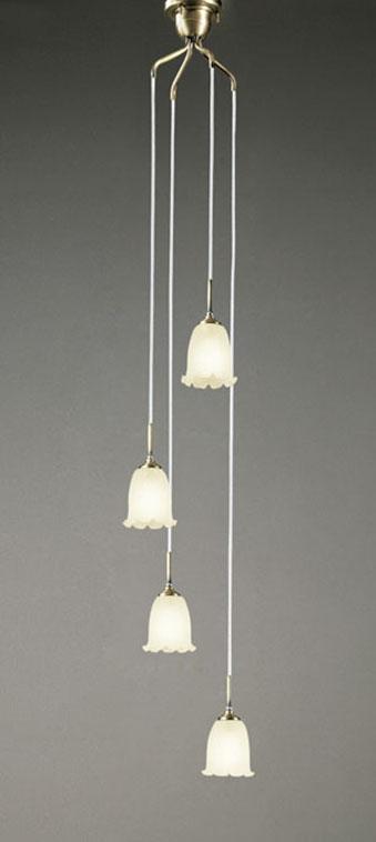 【最大44倍スーパーセール】オーデリック OC079784LC 吹き抜け用シャンデリア LED電球一般形 電球色 白熱灯60W×4灯相当 調光器別売