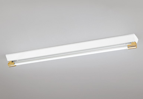 【最安値挑戦中!最大25倍】照明器具 オーデリック XL251190P1E(ソケットカバー・ランプ別梱) ベースライト 直管形LEDランプ 直付型 1灯用 電球色 金色