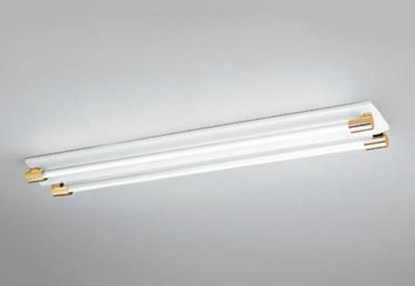 【最大44倍お買い物マラソン】照明器具 オーデリック XL251200C(ソケットカバー・ランプ別梱) ベースライト 直管形LEDランプ 直付型 2灯用 白色 金色