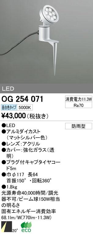 【最安値挑戦中!最大33倍】エクステリアスポットライト オーデリック OG254071 LED 昼白色 [∀(^^)]