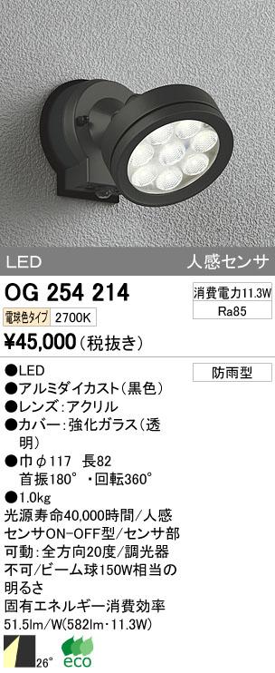 【最安値挑戦中!最大33倍】エクステリアスポットライト オーデリック OG254214 LED 電球色 [∀(^^)]