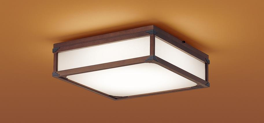 【最安値挑戦中!最大25倍】パナソニック LGC35803 和風シーリングライト 天井直付型 LED(昼光色~電球色) リモコン調光・調色 カチットF パネル付型 ~8畳 木製枠 ダークブラウン