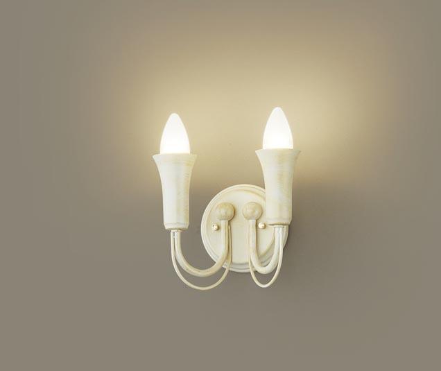 【最安値挑戦中!最大25倍】パナソニック LGB81627 ブラケット 壁直付型 LED(電球色) 40形電球2灯相当 ホワイト ランプ同梱包