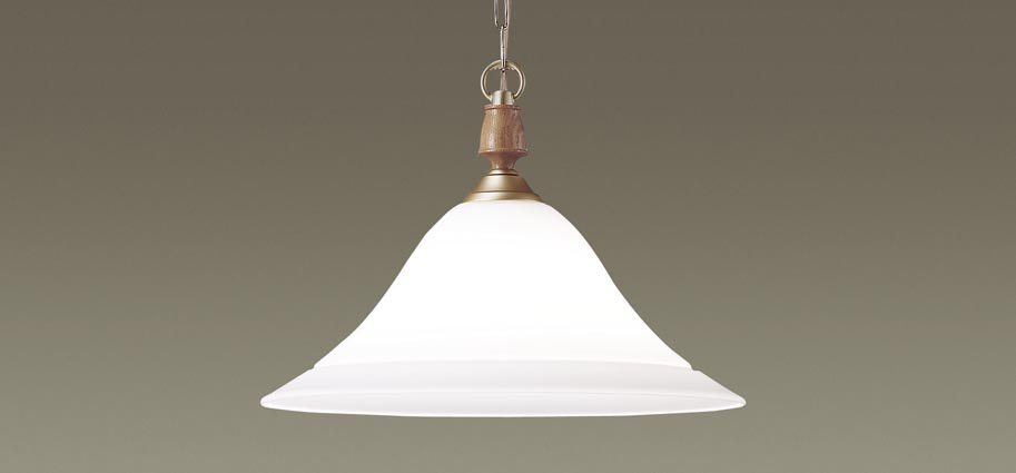 【最安値挑戦中!最大25倍】パナソニック LGB15095 ペンダント 吊下型 LED(電球色) ガラスセード・引掛シーリング方式・U-ライト方式 金色つや消し仕上