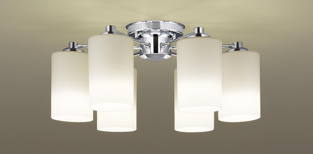 【最大44倍スーパーセール】パナソニック LGB57600K シャンデリア 天井直付型 LED(電球色) 白熱電球50形6灯器具相当 ~10畳 クローム仕上
