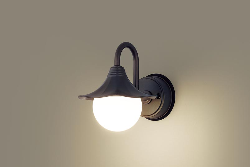 【最安値挑戦中!最大25倍】パナソニック LGW85219Z ポーチライト 壁直付型 LED(電球色) 密閉型 防雨型 ダークブラウンメタリック