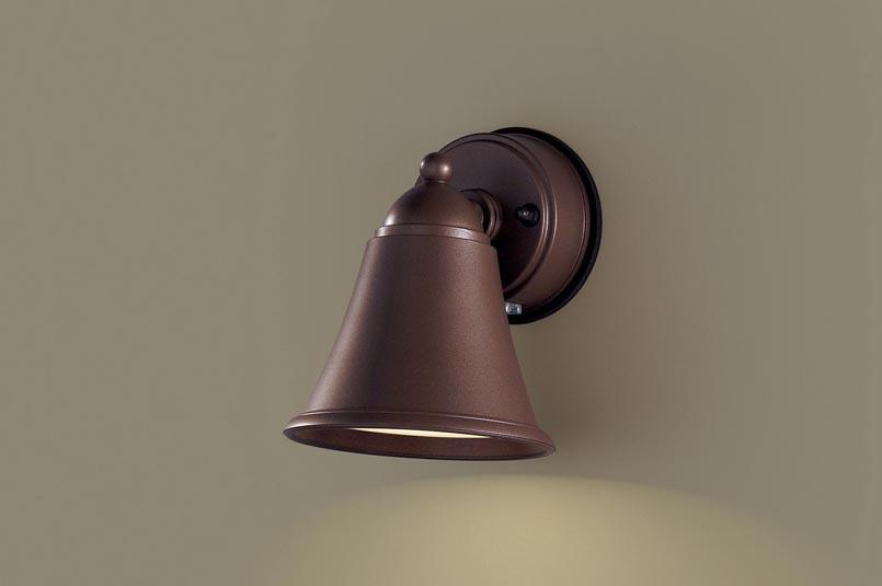 【最安値挑戦中!最大25倍】パナソニック LGWJ85055AZ 表札灯 壁直付型 LED(電球色) 防雨型 明るさセンサ付 パネル付型 ダークブラウンメタリック