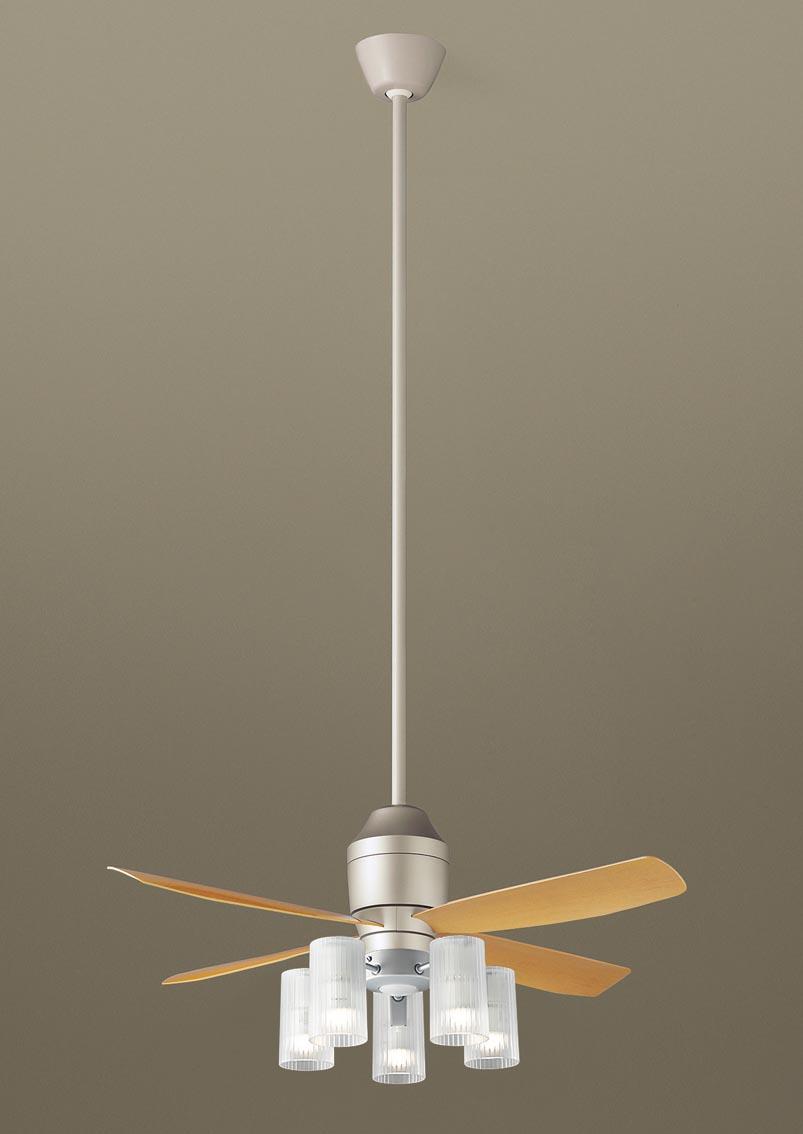 【最安値挑戦中!最大25倍】パナソニック XS72513Z シーリングファン(照明器具付) 直付吊下型 LED(電球色) 12W 60形5灯 ~10畳 パイプ長さ1500mm