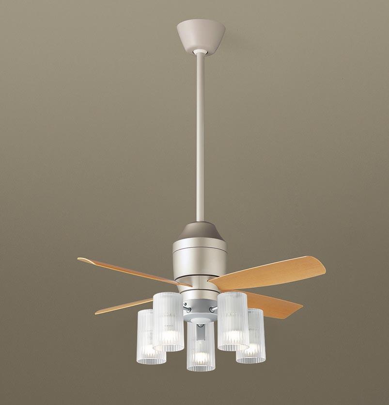 【最安値挑戦中!最大25倍】パナソニック XS77213Z シーリングファン(照明器具付) 直付吊下型 LED(電球色) 5W 60形5灯 ~10畳 パイプ長さ600mm