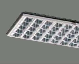 【最安値挑戦中!最大25倍】東芝 F-4243・V ベースライト システムユニット アルミルーバー グレア分類:V 受注生産品 [§]