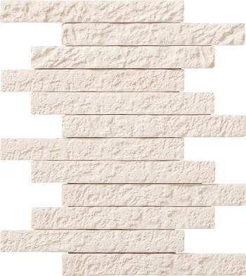 【coordiroom】LIXIL 【ECP-2520NET/BRN11(ホワイト) 14シート入/ケース】25×202角ネット張り ブルックリンボーダーII エコカラットプラス [♪]