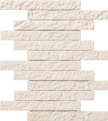 【coordiroom】LIXIL 【ECP-2510N1/BRN11(ホワイト) 4シート入/ケース】25×101角片面小端施釉(短辺)ネット張り ブルックリンボーダーII エコカラットプラス [♪]