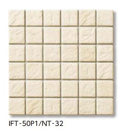 【最安値挑戦中!最大34倍】LIXIL 【IFT-50P1-NT-32 20シート/ケース】 サーモタイル ナチュラル 50mm角紙張り(浴室床タイプ) [♪]