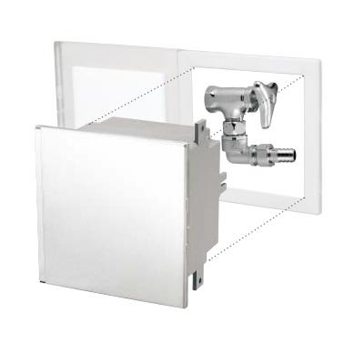 【最安値挑戦中!最大25倍】ミヤコ ステンレス散水栓ボックス 壁埋込水栓付 SB25-30 ステンレス