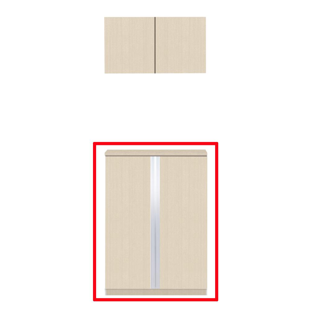 【最安値挑戦中!最大24倍】マイセット Y3-80F ベーシック Y3 玄関収納 2点組合せタイプ フロアユニットのみ 間口80cm 奥行35.8cm [♪〒▲]