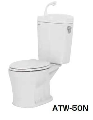 【最安値挑戦中!最大34倍】簡易水洗便器 ネポン ATW-50BN プリティーナ エロンゲート 便座なし 手洗栓付 ホワイト [♪■] 【関東限定】